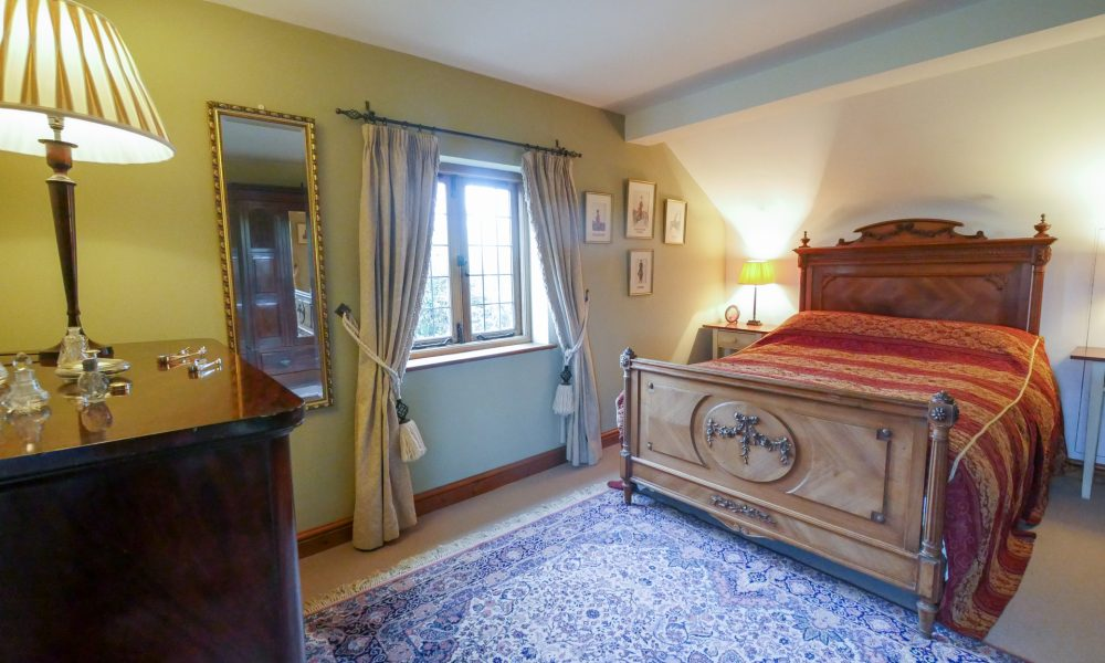 Double bedroom furnished with care and overlooking the Blackmore vale meadows